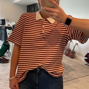 Urban Outfitters Striped Collar Button Shirt